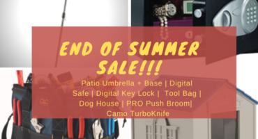 End of Summer Sale! Salem Building Materials